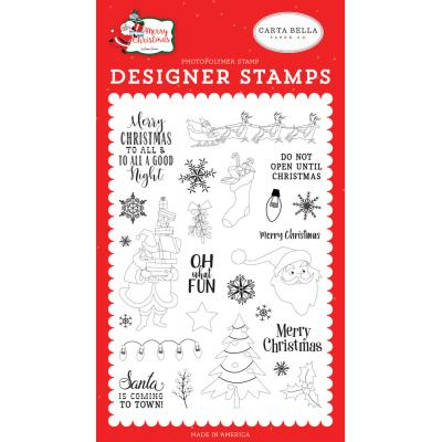 Carta Bella Merry Christmas Clear Stamps - Oh What Fun